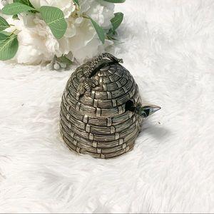 Other - Vintage Godinger silver plated bee hive honey pot